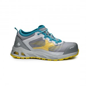 Base K Pop B1002 Pearl Yellow S1P Lightweight Ladies Safety Trainers