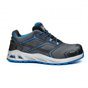 Base K Move B1004 Grey Blue S1P SRC Lightweight Safety Trainers