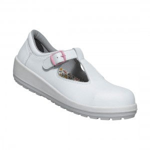 Parade Batina White Microfiber Ladies Buckle Fastened Safety Work Shoes