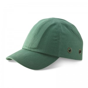 Safety Baseball Style Lightweight ABS Green Bump Cap with Ventalation