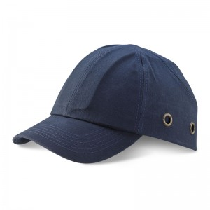Safety Baseball Style Lightweight ABS Navy Bump Cap with Ventalation