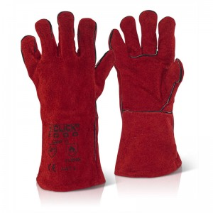 Red Welders 14 Inch CAT 2 Gauntlets to EN407 and EN388 10 Pairs Per Pack