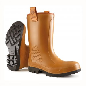 Dunlop Rig Air Lined C462743FL Brown Safety Wellingtons
