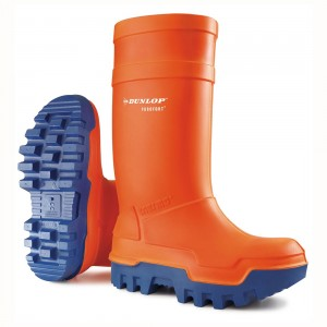 Dunlop Wellies  Purofort Orange Thermo Plus  Safety Wellingtons