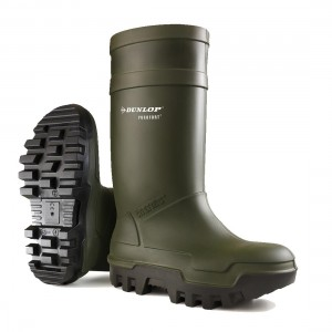 Dunlop Wellies - Purofort Green Thermo Plus Safety Wellingtons