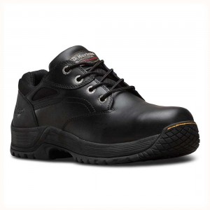 Dr Martens Calvert Four Eyelet Black Leather S1P SRC Unisex Safety Shoes