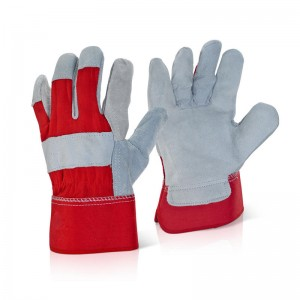 Canadian Style Chrome Leather Palm with Rubberized Cuff Rigger Gloves