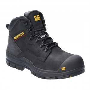 Caterpillar Bearing Water Resistant Black Leather S3 Mens Safety Boots