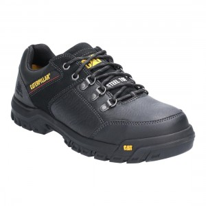 Caterpillar Extension Black Leather Mens ERGO Safety Work Shoes