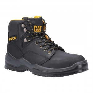 Caterpillar Striver Black Leather S3 SRC Mens Safety Work Boots