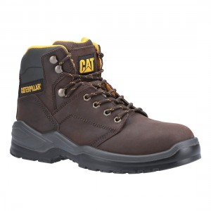 Caterpillar Striver Brown Leather S3 SRC Mens Safety Work Boots