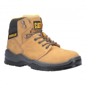 Caterpillar Striver Honey Nubuck leather S3 SRC Mens Safety Boots