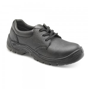 Chukka Style Black Leather Steel Toe and Midsole Budget Safety Shoes