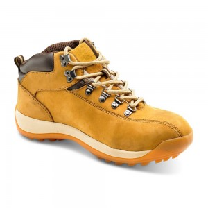 Honey Nubuck Leather Steel Toe and Midsole Mens Safety Hiker Boots