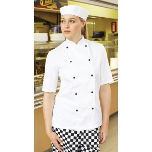 Dennys Lightweight S/Sleeve Chefs Jacket