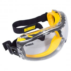 DeWalt Panoramic Ultra Comfort Wide Vison Clear Lens EN166 Safety Goggles