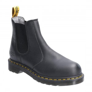 Dr Martens Arbor Black Leather Classic Ladies Safety Dealer Boots