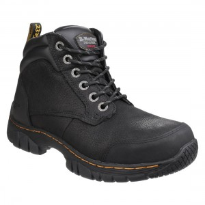 Dr Martens Riverton Black Leather Steel Toe Cap Mens Safety Boots