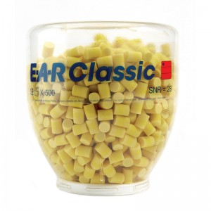 EAR Classic One Touch Refill Bottle Soft Yellow Ear Plugs 500 per Bottle