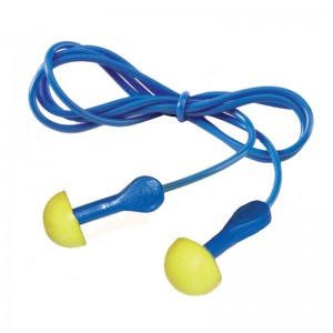 EAR Express Corded 3M Ear Plugs Yellow Foam Pod 100 Pairs Per Pack