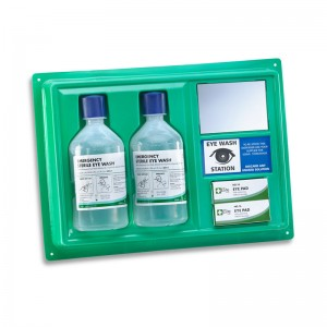 Wall Mountable Eyewash Station with 2 x 500ML Emergency Eyewash Bottles