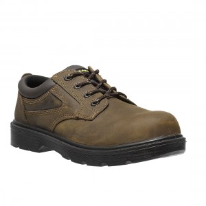 Parade Footwear First Brown Leather Metal Free Mens Safety Work Shoes
