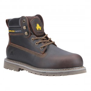 Amblers Safety FS164 Brown Leather Welted Unisex Safety Work Boots