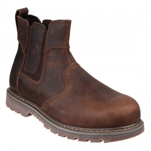 Amblers FS165 Premium Brown Leather Safety Dealers