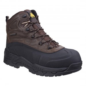 Amblers Orca Hybrid Brown Leather Metal Free Waterproof Safety Boots