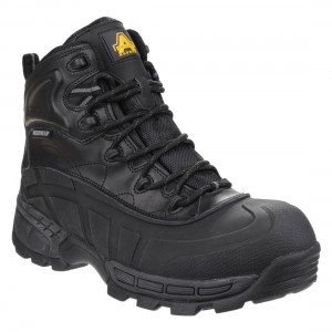 Amblers Orca Hybrid Black Leather Mens Waterproof Safety Hiker Boots