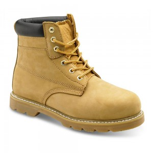 Classic Honey Nubuck Leather Goodyear Welted SBP Mens Safety Boots
