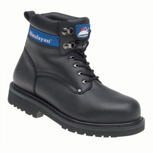 Himalayan 3100 Goodyear Welted Black Leather Mens Safety Work Boots