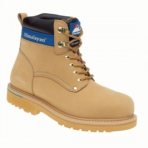 Himalayan 3402 Honey Nubuck Leather Goodyear Welted Safety Work Boots