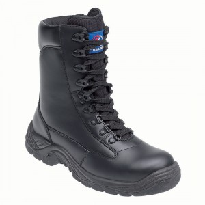 Himalayan 5060 Premium Black Leather Combat Style Unisex Safety Boots