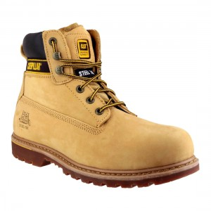 CAT Holton SB Honey Nubuck Safety Boots