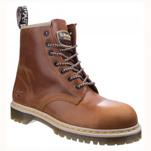 Dr Martens Icon Classic Tan Leather Airwair Seven Eyelet Safety Boots