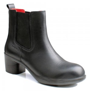 Lavoro Cyndi Black Full Grain Leather ESD S3 SRC Ladies Safety Dealers