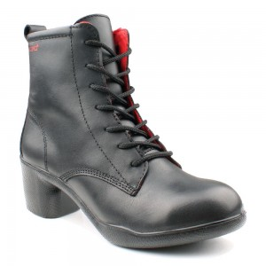 Lavoro Lucy Black Full Grain Leather ESD S3 SRC Ladies Safety Boots