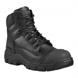 Magnum Roadmaster Waterproof Metal Free Black Leather Safety Boots