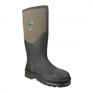 Muck Boots Chore Classic Steel Moss Green Waterproof Safety Wellingtons