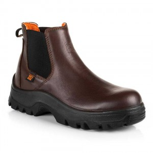 No Risk Denver Brown Leather S3 Water Resistant Safety Dealer Boots