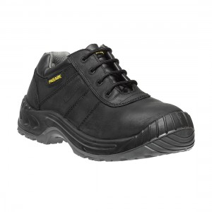 Parade Footwear Nikola Metal Free Mens Black Leather Safety Work Shoes