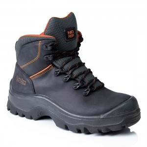No Risk Coltrane Clima Cork Black Leather S3 Safety Work Boots