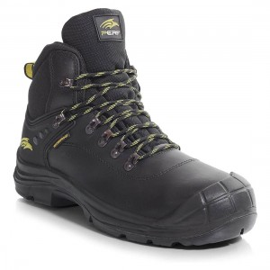 Perf Corvus Black Leather S3 Waterproof Unisex Safety Hiker Boots