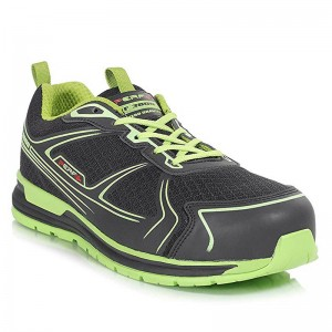 Perf Gravity Zero Black Lime Lightweight Vibram Mens Safety Trainers