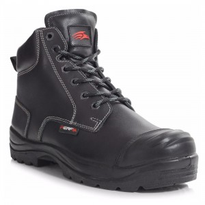 Perf PB10C Derby Black Leather Heavy Duty DDR S3 SRC Mens Safety Boots