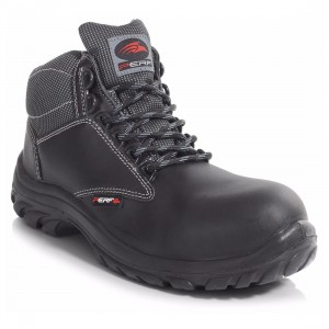 Perf PB110 Black Leather Metal Free S3 SRC Unisex Safety Hiker Boots