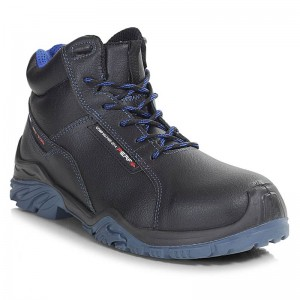 Perf Tornado High Black Leather Metal Free S3 SRC Unisex Safety Boots