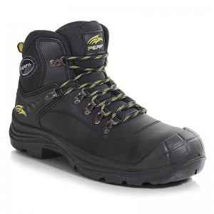Perf Torsion Black Leather S3 SRC Lightweight Unisex Safety Hiker Boots