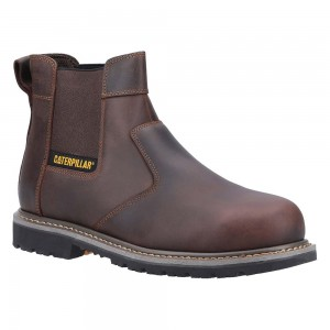 Caterpillar Powerplant Crazy Horse Leather Welted Safety Dealer Boots